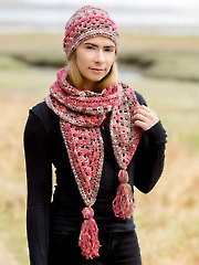 ANNIE'S SIGNATURE DESIGNS: Coho Messy Bun Hat & Scarf Set Crochet Pattern