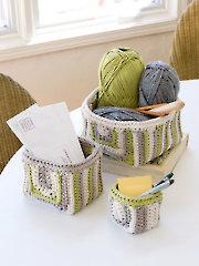 ANNIE'S SIGNATURE DESIGNS: Ramsey Gansey Baskets Crochet Pattern