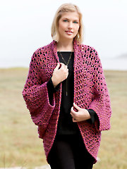 ANNIE'S SIGNATURE DESIGNS: Lotte Cocoon Shrug Crochet Pattern