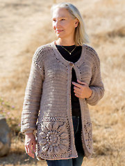 ANNIE'S SIGNATURE DESIGNS: Devon Embossed Cardi Crochet Pattern