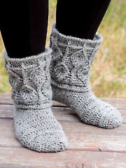 ANNIE'S SIGNATURE DESIGNS: Dartmoor Embossed Boots Crochet Pattern