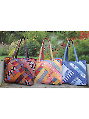 Quilt As You Go Alexandra Tote Pattern with Pre-Printed Batting