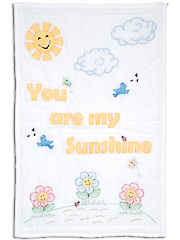 Prestamped You are My Sunshine Crib Quilt Top Pattern