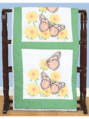 "Butterflies 18"" Prestamped Quilt Blocks Pattern"