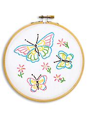 """Butterflies 6"""" Prestamped Hoop Kit"""