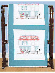 "Camper 18"" Prestamped Quilt Blocks Pattern"