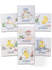 Ducky Days Iron-On Embroidery Pattern
