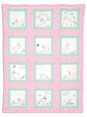 """Unicorn 9"""" Prestamped Nursery Quilt Blocks"""