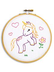 """Baby Unicorn 6"""" Prestamped Hoop Kit"""