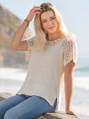 ANNIE'S SIGNATURE DESIGNS: White Sand Tee Crochet Pattern