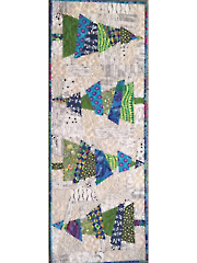 Crazy Christmas Trees Table Runner Pattern