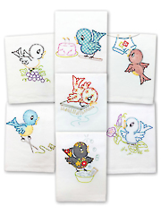Little Birdie Iron-On Embroidery Pattern