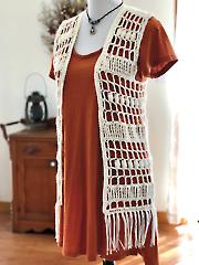 Boho Fringe Vest Crochet Pattern