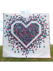 Exploding Hearts Quilt Pattern