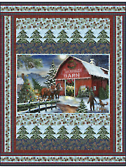 Christmas Barn Quilt Pattern