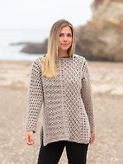 ANNIE'S SIGNATURE DESIGNS: Enigma Gansey Crochet Tunic Pattern