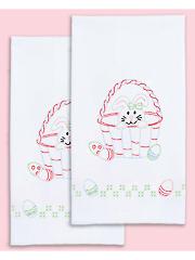 Easter Decorative Prestamped Hand Towels 2/Pkg