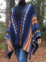 Blue Jean Baby Poncho Crochet Pattern