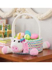 Unicorn Easter Basket Crochet Pattern