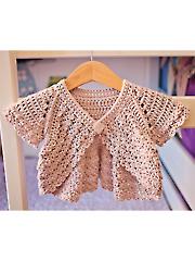 Flutter Sleeve Crochet Shrug Pattern