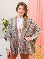 Quick & Easy Short Ruana Crochet Pattern