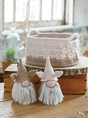 ANNIE'S SIGNATURE DESIGNS: Rustic Basket & Troll Gnomes Crochet Pattern