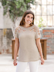 ANNIE'S SIGNATURE DESIGNS: Saharan Dust Crochet Tee Pattern