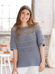 ANNIE'S SIGNATURE DESIGNS: Salty Waters Crochet Tee Pattern
