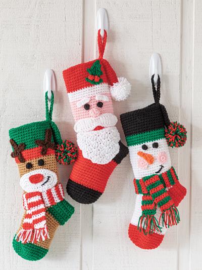 Holly Jolly Christmas Stockings Crochet Pattern