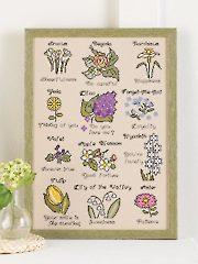 The Language of Flowers Cross Stitch Pattern
