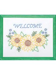 Welcome Sunflowers Prestamped Quilt Blocks Pattern