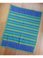 Birthday Name Blanket Hat Crochet Pattern