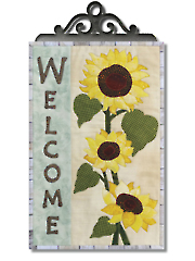 A Sunflower Welcome Wall Hanging Pattern with Hanger