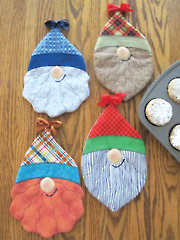 Two Toooo Cute Gnomes Pot Holder Sewing Pattern