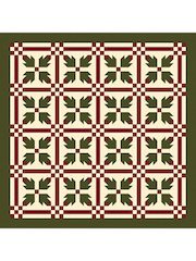Christmas Bear Paw Quilt Pattern