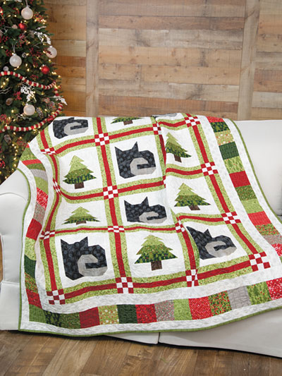 EXCLUSIVELY ANNIE'S QUILT DESIGNS: Christmas Cats Quilt Pattern