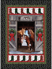 Christmas Horses Quilt Pattern