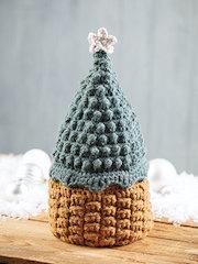 ANNIE'S SIGNATURE DESIGNS: Crochet Christmas Tree Basket Pattern