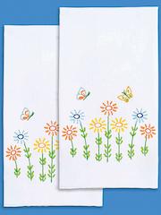 Field of Flowers Prestamped Hand Towels 2/Pkg.