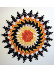 Trick or Treat Doily Crochet Pattern