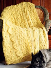 Reversible Cabled Afghan Knit Pattern - Electronic Download