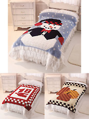 Granny Square Picture Crochet Afghans