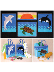 Sea Life Collection in Plastic Canvas Pattern Pack - Electronic Download