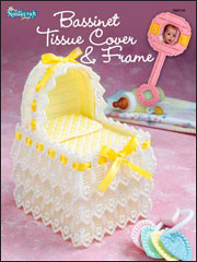 Baby Bassinet Tissue Box Cover & Photo