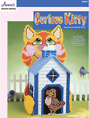 Curious Kitty Plastic Canvas Pattern