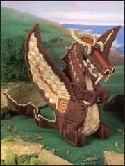 Dragon Sculpture Plastic Canvas Pattern