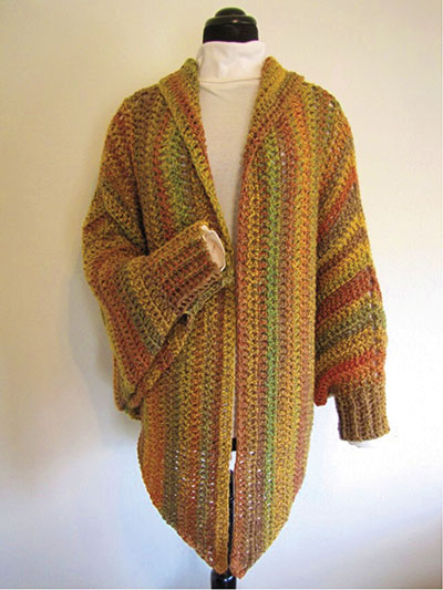 Quick & Easy Cuffed Cape Crochet Pattern Pack