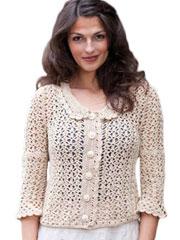 Sandy Crochet Lace Jacket - Electronic Download RAC0474