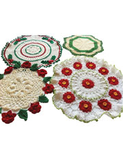 Christmas Doilies Crochet Pattern Pack