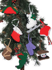 Christmas Ornaments Crochet Pattern Pack - Electronic Download